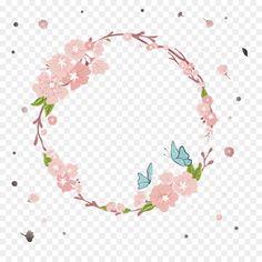 La Corona De Flores Libre De La Plantilla Descarga Vectores