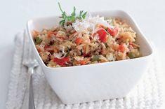 Mexická rýže | Apetitonline.cz Gnocchi, Fried Rice, Potato Salad, Fries, Potatoes, Ethnic Recipes, Food, Red Peppers, Potato