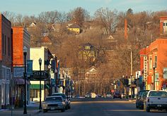 TOWN in The VALLEY ~ Excelsior Springs, Missouri USA ~ Winter Morning Sunlight © 2013 Bob Travaglione. ALL RIGHTS RESERVED
