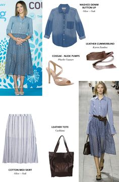 Who says you can't wear denim and look chic at the same time? Jessica Alba's denim button down and maxi skirt is the staple for that. #JessicaAlba #Zindigo #getthelook