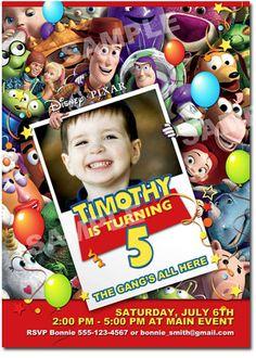 Toy Story Invitation - Printable Toy Story Birthday Invitation. $10.00, via Etsy.