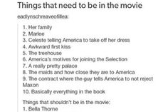How about really amazing actors to play Maxon and America perfectly because everyone knows those 2 are very complex