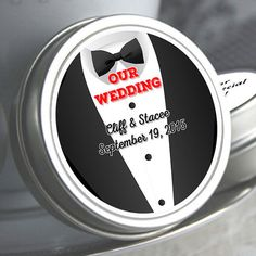 """12 Personalized Tuxedo Wedding Mint Tins - Select the quantity you need below in the """"Pricing & Quantity"""" option tab"""