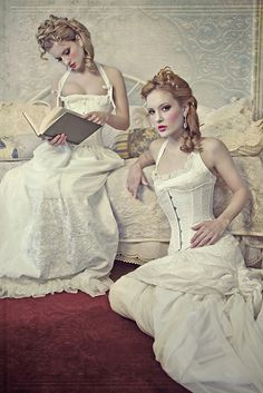 corsets and white gowns..