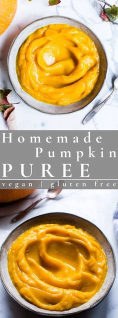 Making Homemade Pumpkin Puree from scratch is super easy and takes very little hands on time. So grab those fresh pumpkins from the market and let's roast pumpkins and whip up some pumpkin puree y'all! vegan + gluten free #puree #pumpkinpuree #vegan #glutenfree   vanillaandbean.com @vanillaandbean Homemade Pumpkin Seeds, Roasted Pumpkin Seeds, Roast Pumpkin, Pumpkin Recipes, Delicious Dinner Recipes, Good Healthy Recipes, Vegan Recipes Easy, Snack Recipes, Vegetarian Recipes