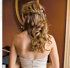 Partial Updo braids