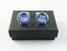 New Dad Cufflinks Personalized Mens Cufflinks by YourOccasionGifts Gifts For Husband, Gifts For Father, Make And Sell, How To Make, New Dads, Little Gifts, Special Gifts, Initials, Special Occasion
