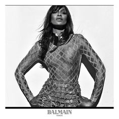 "BALMAIN on Instagram: ""NAOMI #BALMAINSS16 #NaomiCampbell stars in the #Balmain Spring/Summer 2016 ad campaign. Creative Director #PascalDangin at KiDS Creative Photographer #StevenKlein #BALMAINARMY #TOPMODELS"""