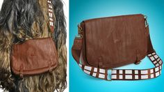 straight from his facebook profile, a Chewbacca messenger bag for my Star Wars-loving nerd brother.
