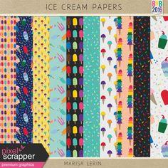 Ice Cream Papers Kit