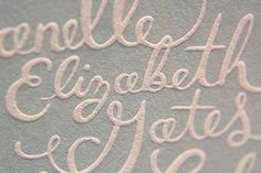 The Beauty of Letterpress: Janelle + James Invite Lettering Design, Branding Design, Unique Invitations, Invitation Ideas, Invitation Cards, Invites, Neenah Paper, Calligraphy Types, Never Getting Married