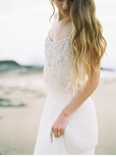 Poetic Bridal Session on the Beach from Luna de Mare Photography Bohemian Bride, Bohemian Wedding Dresses, Wedding Bridesmaid Dresses, Wedding Attire, Bridal Dresses, Romantic Wedding Hair, Wedding Looks, Bride Portrait, Bridal Session