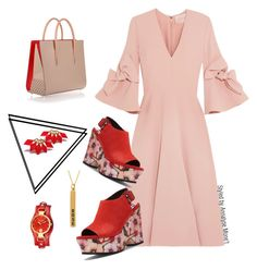 """OOTD 0024"" by vettinalyse on Polyvore featuring Roksanda, Donald J Pliner, Christian Louboutin and Versus"