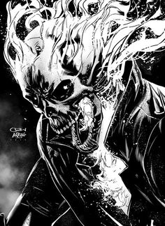 Ghost Rider by Caanan White on Artstation Ghost Rider Drawing, Ghost Rider Tattoo, Marvel Comics Art, Bd Comics, Marvel Comic Universe, Ghost Rider Johnny Blaze, Ghost Rider Marvel, Ghost Rider Wallpaper, Marvel Wallpaper