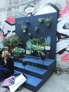 Planteopsatser og potter fra Ferm LIVINGs pop-up shop i København.