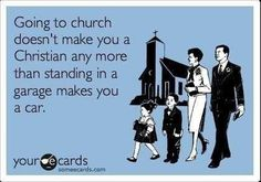 I find that this picture reveals a lot about the hypocrisy in some people. Many (not all) who go to Church call themselves Christians but don't follow the teachings of the Bible.
