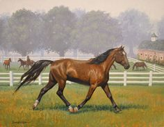 """""""Tennessee Rose (back cover)"""" Original oil painting by Ruth Sanderson from the Horse Diaries series is available at the R. Michelson Galleries."""