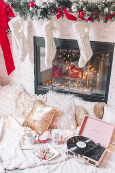 Christmas Wrapping Ideas, Holiday Wrapping Ideas, How to throw a holiday wrapping party, christmas party ideas, festive holiday ideas, holiday wrapping ideas, Christmas pj's under $20, Christmas pajamas, blogger holiday photos, twinkle lights, Christmas decorating ideas, holiday decorating photos, flocked tree, How to throw a Christmas Wrapping Party, Cozy Christmas Pj's, Christmas photo ideas, Holiday photo ideas, Christmas decor ideas, Holiday decor ideas