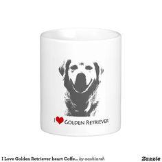 I #Love #Golden #Retriever #heart #Coffee #Mug Cup 11 oz #animal #pet #animallover