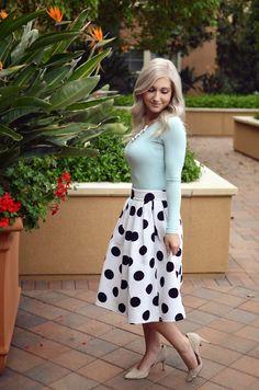 Polka Dot Skirt ~ Bay Area Blonde
