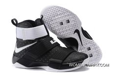wholesale dealer 016ec e20e1 Nike Zoom LeBron Soldier 10 Black White-Metallic Silver Online