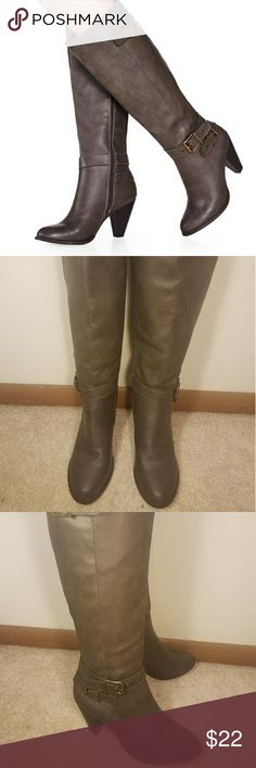JustFab Jadyss Wide Calf Riding Boots Size: 10 These have never been worn. They are in perfect condition.  These boots are a perfect transition piece to the fall JustFab Shoes Winter & Rain Boots