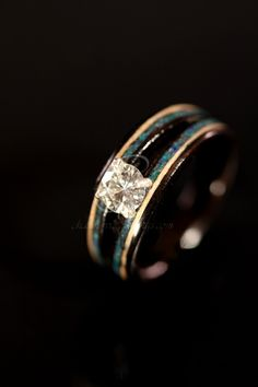 e6417749a93 Diamond Engagement Wooden Ring made of Ebony by chasingvictory.  565.00