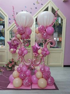 Discover thousands of images about Silver, Purple and Teal Balloon Centerpieces by Extra POP by Yolanda Balloon Pillars, Balloon Tower, Love Balloon, Balloon Arch, Balloon Art Baby, Ballon Decorations, Balloon Centerpieces, Birthday Decorations, Ballon Arrangement
