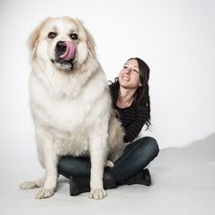 The bigger they are, the harder they fall in love... I used to have a Great Pyrenees when I was younger. Her name was Stormi... Man, she was huge! But I loved her!!!