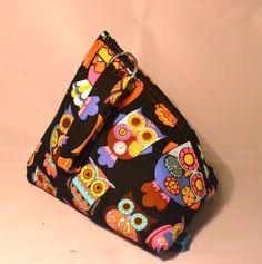 Pochette hibou multicolore en forme de berlingot : Trousses par manou92290