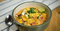 Slow Cooker Chicken Chili - I'll be swapping out the cream cheese for a cream of chicken/mushroom.