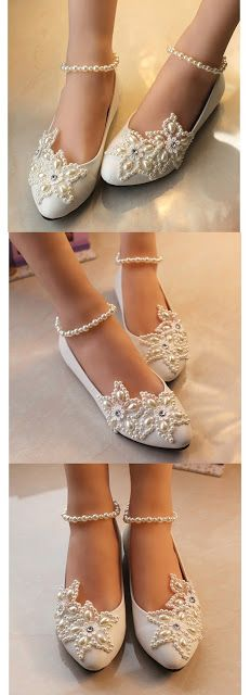 Flat wedding shoes Getmorebeauty Women's Mary Jane Flats Pearls Across The Top Beach Wedding Shoes $29.50 - $33.50 & FREE Returns on some sizes and colors.