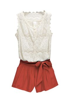 Lace romper. They don't really make these for tall people, but a girl can dream.