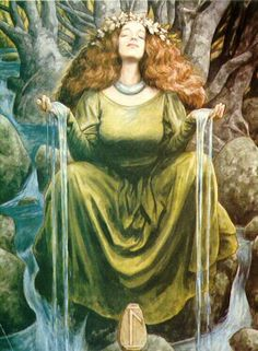 The Lady of the Waters by Brian Froud/  The Colour Matrix bottles are filled with colour, light, sound vibrations and water from the Holy Wells of Glastonbury and Scotland