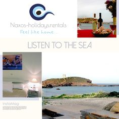 Just in front of the beach, perfect view to the temple of Apollon. The perfect place for your holidays in Naxos!!!!