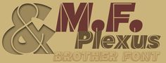 M.F. Plexus Italic font by deFharo - FontSpace