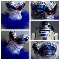 R2D2 Star Wars rave outfit #starwars #rave #electriclaundry