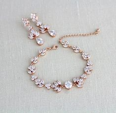 Bridal Jewelry Sets Pink upon Inexpensive Jewelry Stores Near Me toward Wedding Jewelry Sets Crystal Rose Gold Wedding Jewelry, Gold Bridal Earrings, Bridal Jewelry Sets, Rose Gold Earrings, Bridal Accessories, Bridesmaid Bracelet, Bridal Bracelet, Bridal Necklace, Bar Necklace