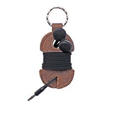 Rustic Leather Key Chain & Headphone Wrap - The Quick Gift