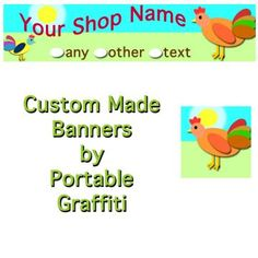 "One-of-a-Kind ""Cluck-cluck"" Banner"