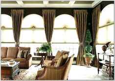 Living Room Vertical Blinds Ideas Casement Windows, Arched Windows, Long Window Curtains, Large Window Treatments, Small Windows, Round Windows, Elegant Curtains, Bedroom Windows, Farmhouse Design