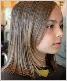 Coiffure de fille cheveux mi long