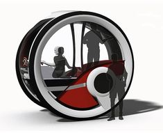 Wheel-Encapsulated Cars - The Infinitlar Autonomous Vehicle is a Pod for Transport and Living (GALLERY)