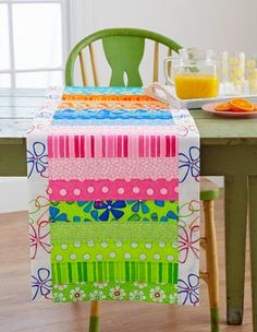 Free Table Runner Patterns - This is an idea for an easy and fast table runner