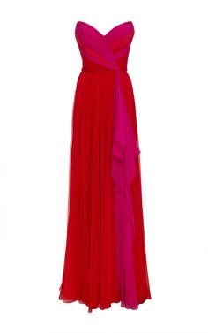 Iconic Dresses, Nice Dresses, Long Dresses, Best Gowns, Expensive Dresses, Red Silk Dress, Festa Party, Elegantes Outfit, Chiffon Gown
