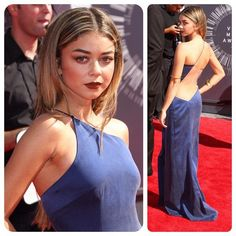 Bringing back the 90's brown lip on Sarah Hyland for the 2014 VMA's!