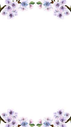 Blue Floral Wallpaper, Flower Phone Wallpaper, Flower Lockscreen, Iphone Wallpaper, Background Images Wallpapers, Pretty Wallpapers, Wallpaper Backgrounds, Dove Pictures, Doodle Frames