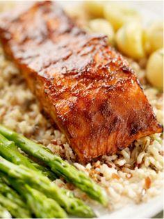 Salmon Teriyaki with Asparagus