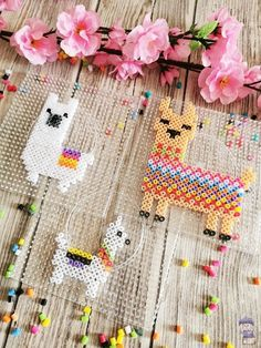 Die schönsten Lama Figuren aus Bügelperlen - Dani vom Dach You are in the right place about DIY Gifts for ladies Here we offer you the most beautiful pictures about the DIY Gifts just because you are Perler Bead Designs, Diy Perler Beads, Perler Bead Art, Pearler Beads, Hair Rainbow, Art Perle, Making Bracelets With Beads, Ornament Hooks, Iron Beads