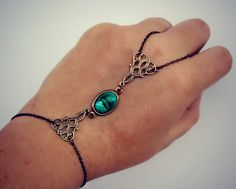 Hey, I found this really awesome Etsy listing at https://www.etsy.com/listing/153768930/slave-bracelet-greenturquoise-cabochon